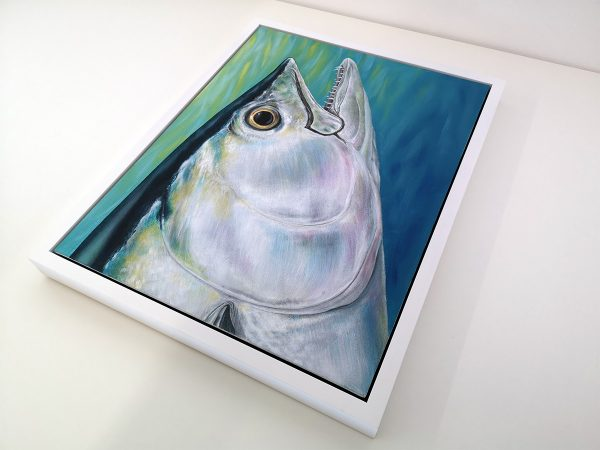 Dog tooth tuna painting in frame