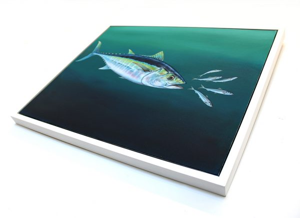 Original framed painting of a Yellowfin Tuna