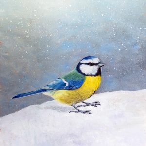 Blue Tit painting for sale