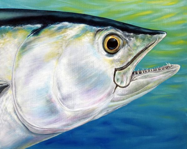 Dogtooth Tuna fish painting for sale