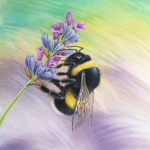 Bumblebee painting - acrylic bee art original