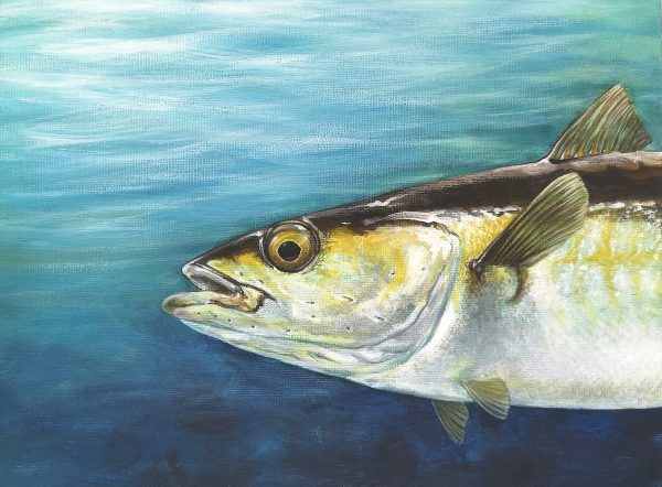 Pollock fish painting - acrylic art original