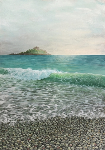 Original painting of St Michaels Mount, Cornwall