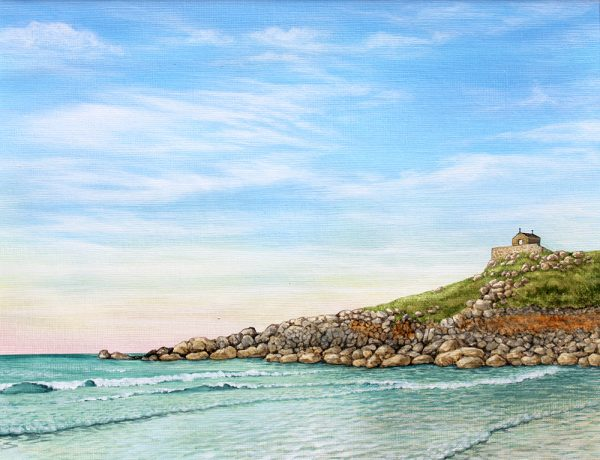Painting of The Chapel at St Ives, Cornwall