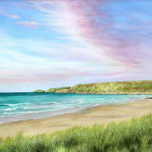 Original painting of Sennen Beach, Cornwall