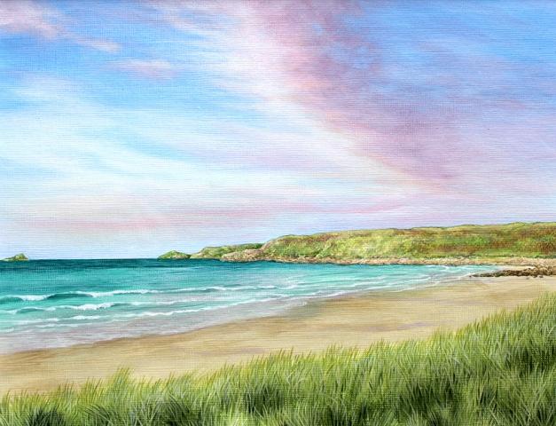 Original painting of Sennen Beach, Cornwall