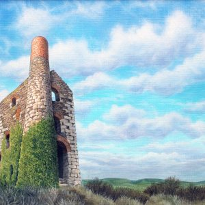 Painting of Wheal Uny, nr Redruth, Cornwall