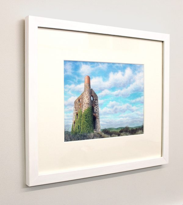 Framed picture of Wheal Uny at Redruth, Cornwall
