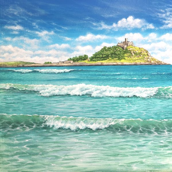 Painting of St Michaels Mount, Cornwall