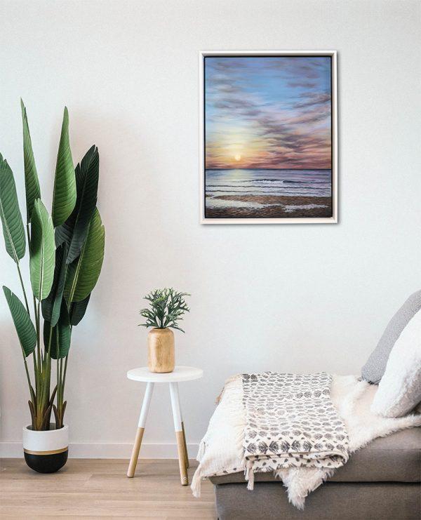 Framed painting of Porthmeor Beach