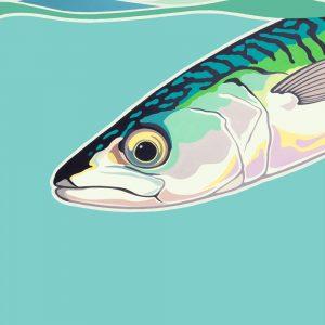Original Mackerel painting