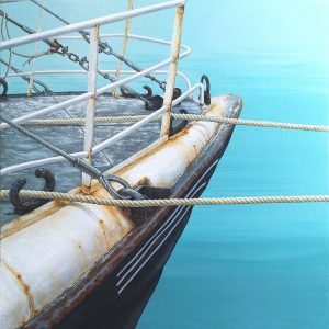 Original painting of a trawler boat