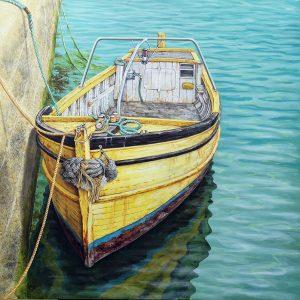 Original painting of a Cornish boat