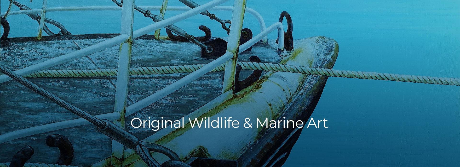 Original wildlife art & marine paintings for sale